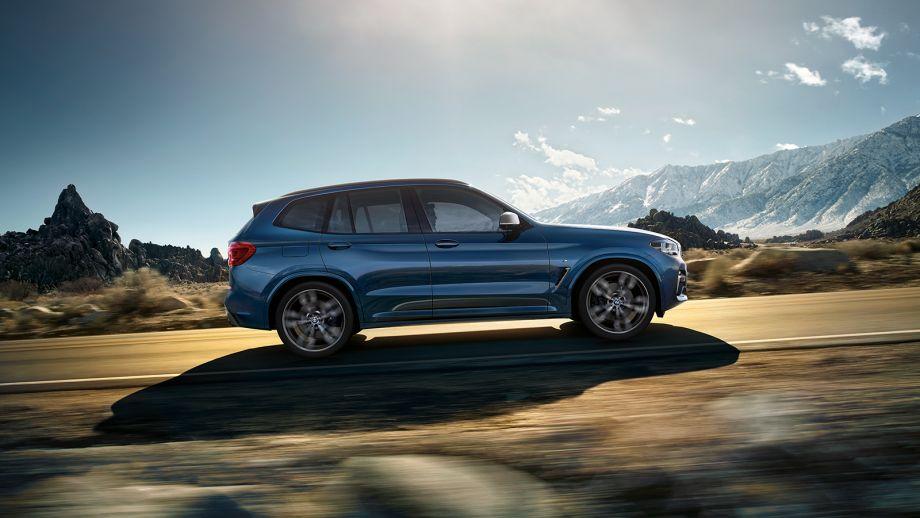 BMW X3 SUV blau