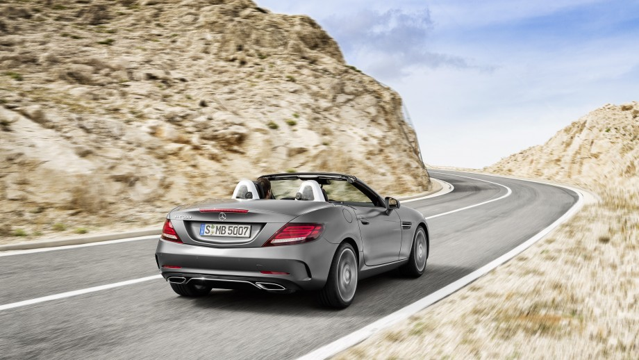 Mercedes-Benz SLC Roadster grau Heck