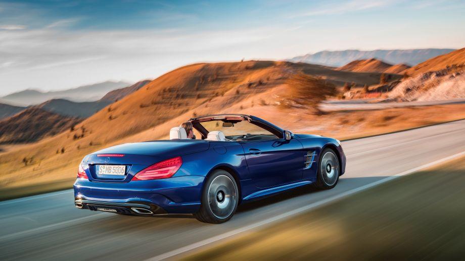 Mercedes-Benz SL 500 Roadster blau Heck
