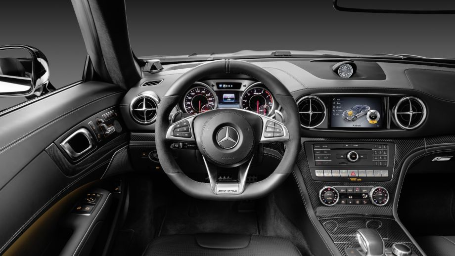 Mercedes-Benz SL 500 Roadster blau Interieur