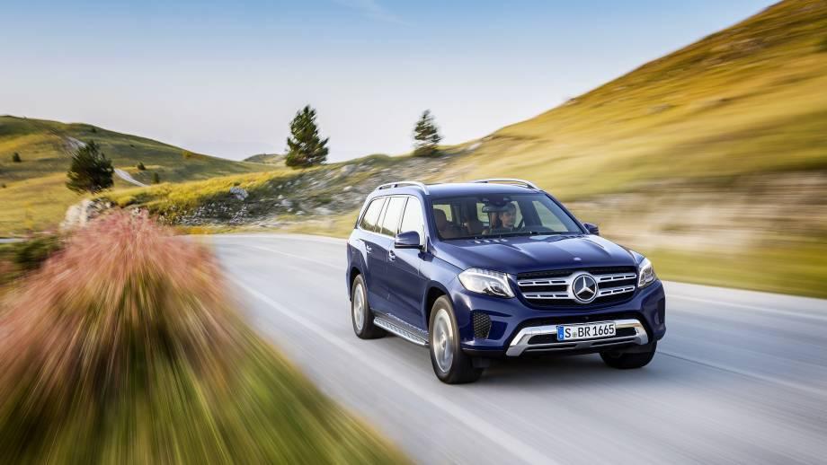 Mercedes-Benz GLS SUV Front blau