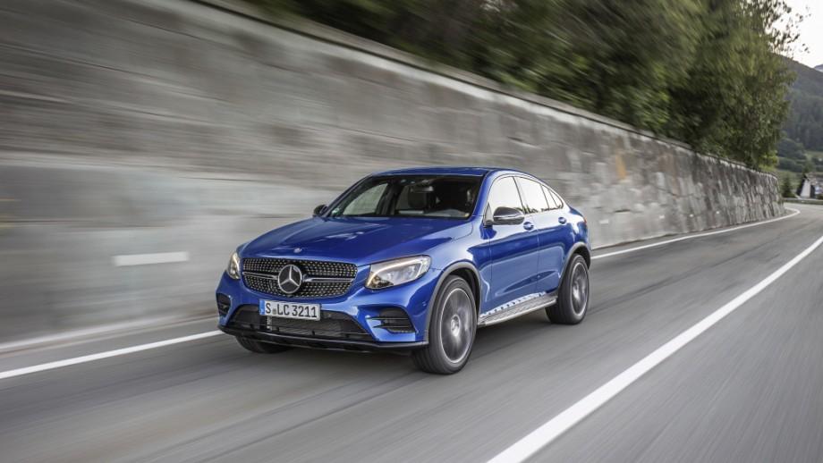 Mercedes-Benz GLC Coupé blau