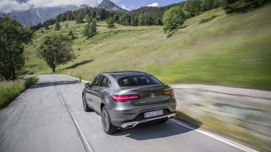 Mercedes-Benz GLC Coupé grau Heck