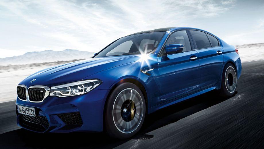 BMW M5 Limousine blau