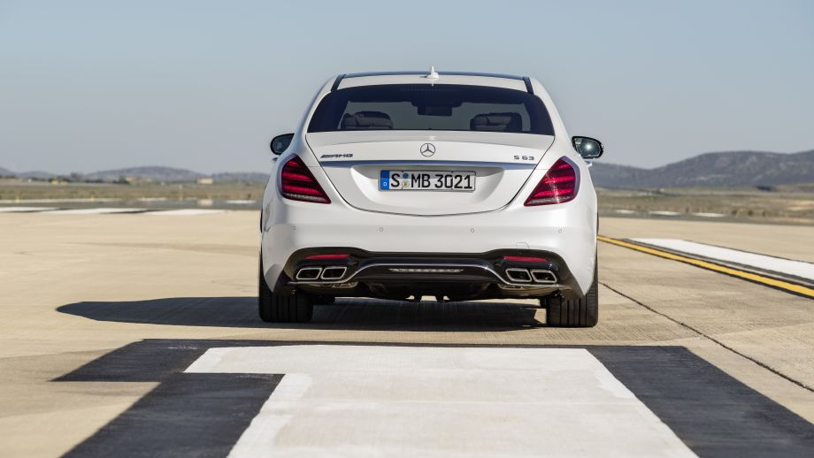 Mercedes-AMG S63 4MATIC Limousine weiss Heck