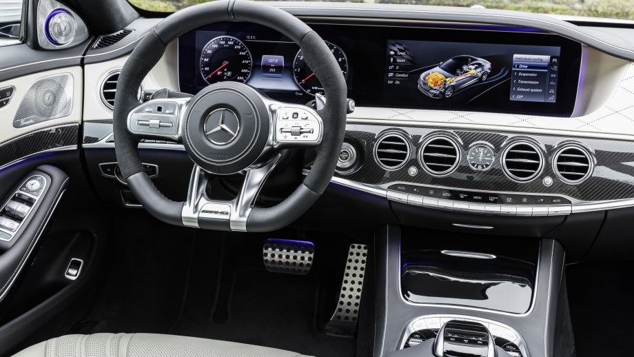 Mercedes-AMG S63 4MATIC Limousine weiss Widescreen