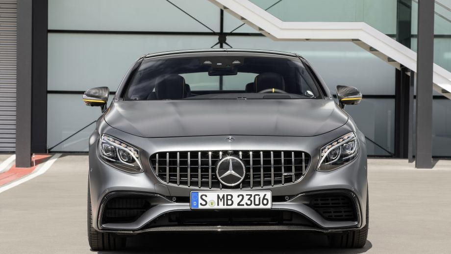 Mercedes-AMG S63 4MATIC Coupé grau Panamericana Grill