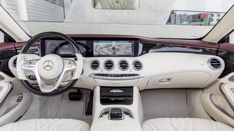 Mercedes-Benz S-Klasse Cabriolet Interieur Widescreen