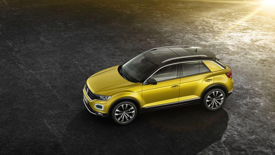 VW T-Roc SUV gelb Seite