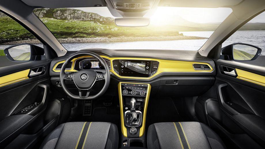 VW T-Roc SUV gelb Interieur