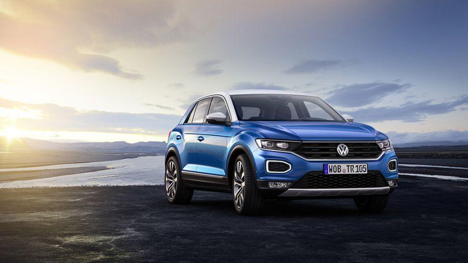VW T-Roc SUV blau Front