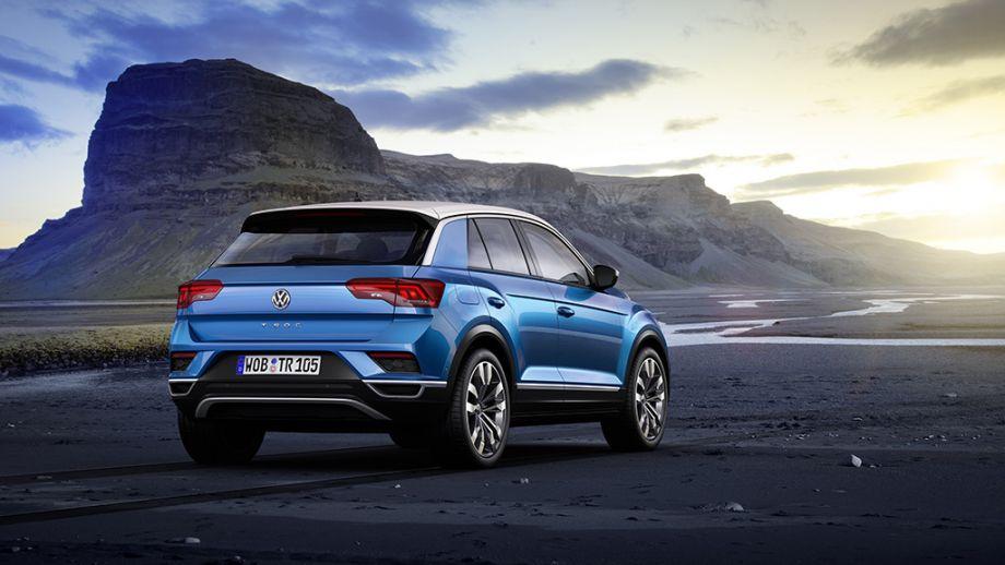 VW T-Roc SUV blau Heck