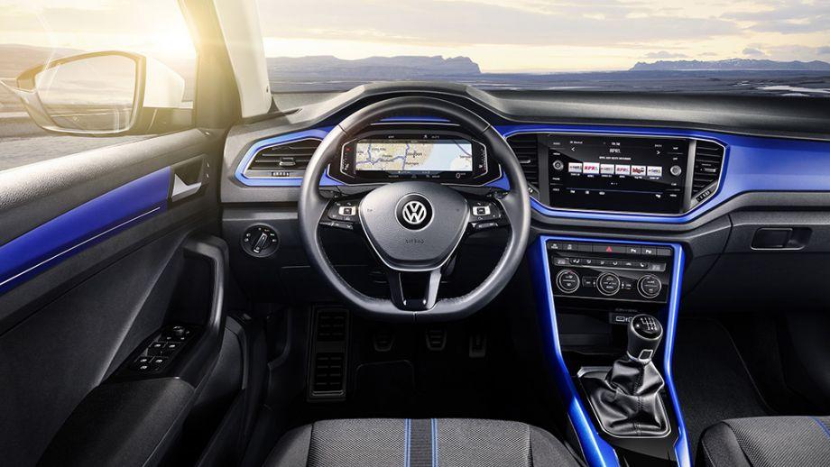 VW T-Roc SUV blau Interieur
