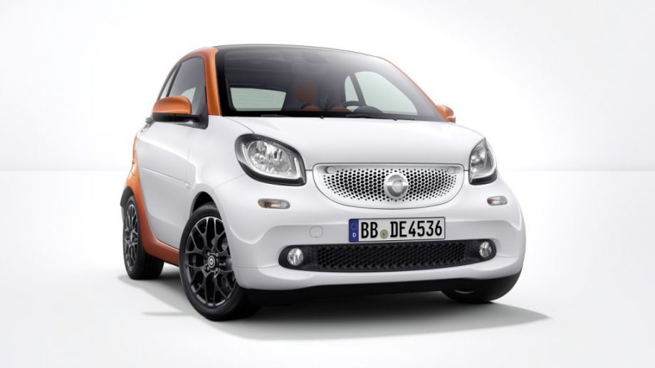 Smart Fortwo Weiss Lavaorange Front