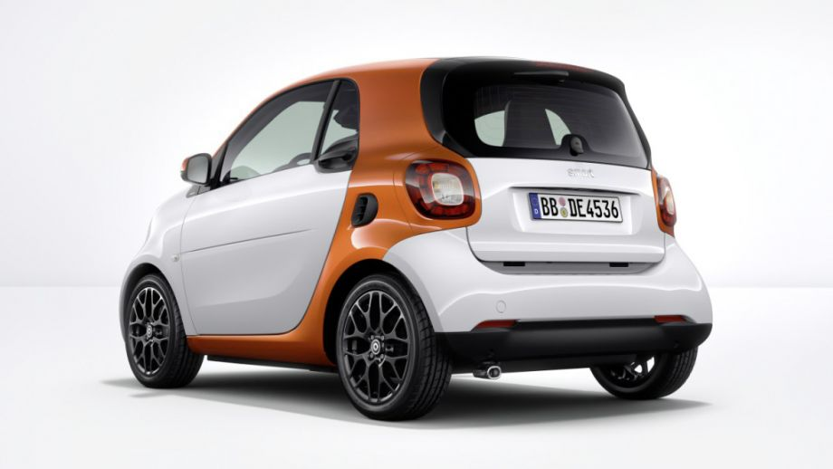 Smart Fortwo Weiss Lavaorange Heck