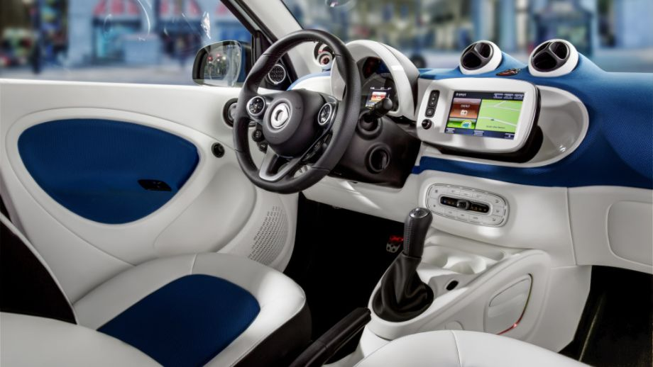 Smart Fortwo Weiss Midnightblue Interieur