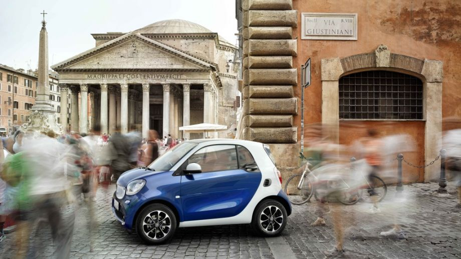Smart Fortwo Weiss Midnightblue Seite