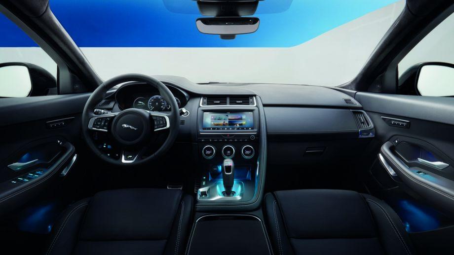 Jaguar E-Pace SUV 2018 Caesium Blue Armaturenbrett