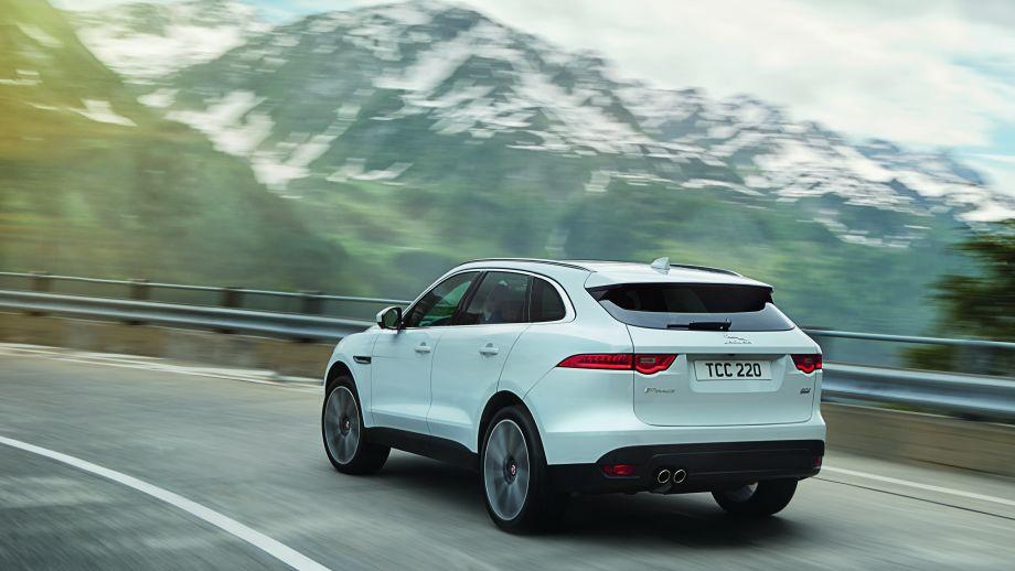 Jaguar F-Pace weiss Heck
