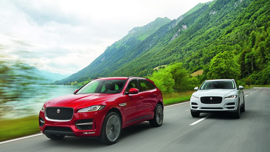 Jaguar F-Pace weiss rot Front