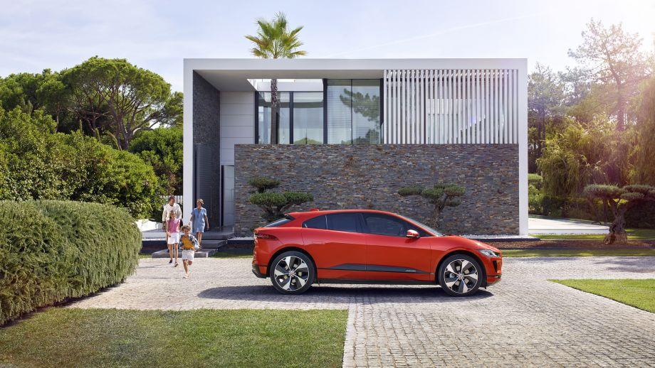 Jaguar I-Pace rot Seite