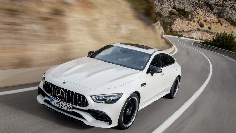Mercedes-AMG GT 4-Türer Coupé GT 53 4MATIC fahrend