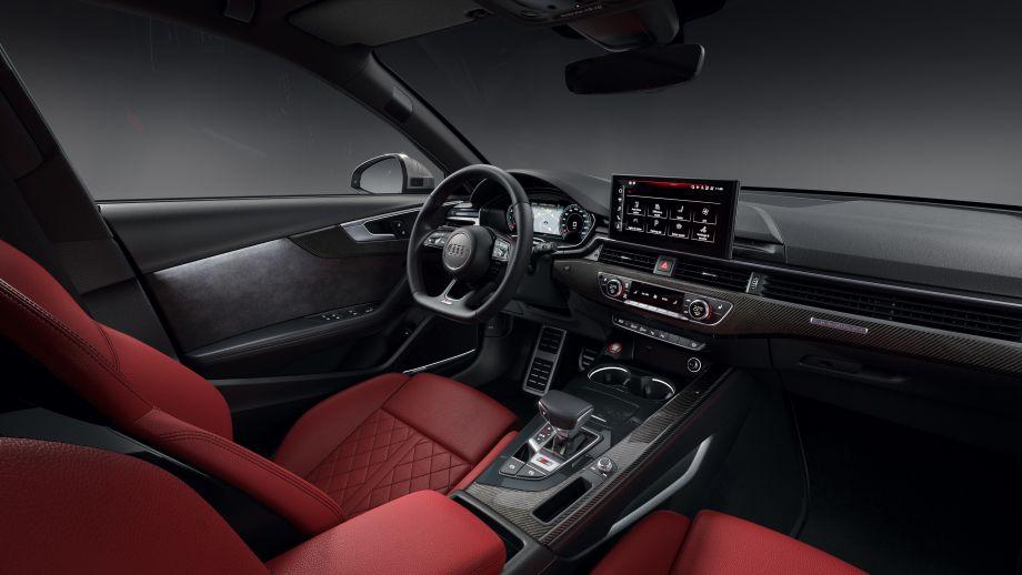 Audi S4 Avant TDI Interieur Cockpit MMI abgeflachtes Steuerrad