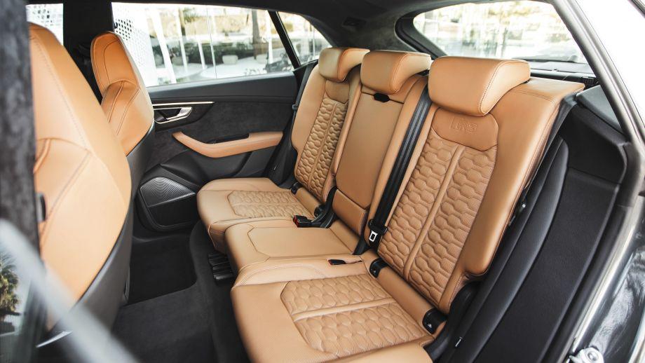 Audi RS Q8 Rückbank, Rücksitze, braun