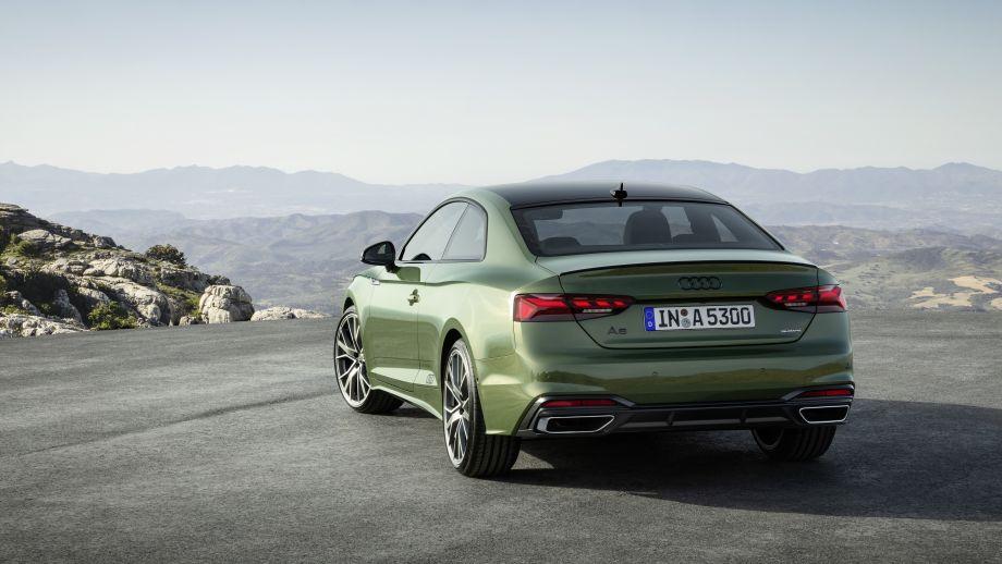 Audi A5 Coupé LED, Auspuff, Schwarzes Audilogo, Felgen