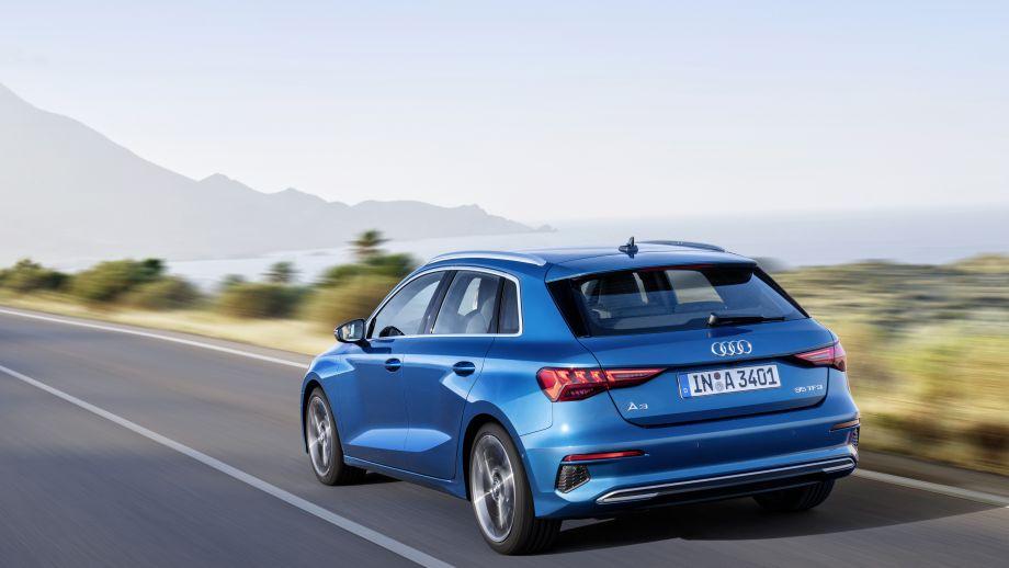 Audi A3 Sportback Heck, LED, Rücklicht, Felgen, Auspuff